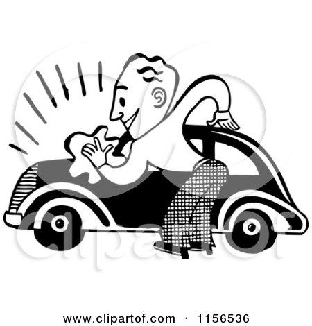 Royalty-Free Vector Clip Art Illustration of a Happy Car