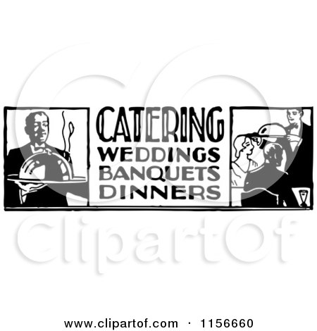 Royalty-Free (RF) Clipart of Caterers, Illustrations