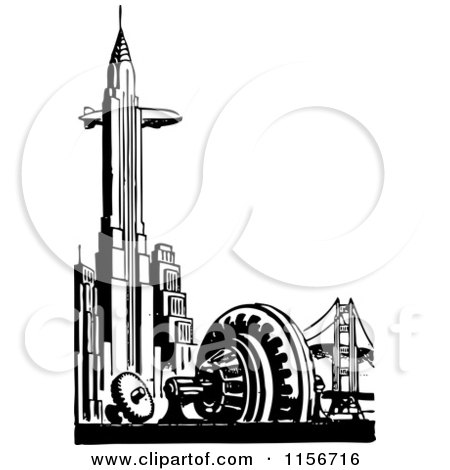 Royalty-Free (RF) Chrysler Building Clipart, Illustrations