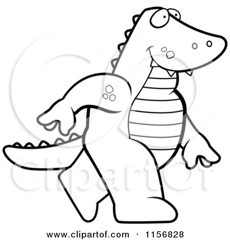 Royalty-Free (RF) Clipart Illustration of an Old Alligator