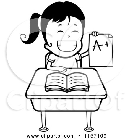 Royalty-Free (RF) Clipart Illustration of a Smart School