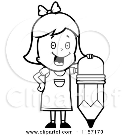 Royalty Free RF Clipart Illustration Of A Smart School