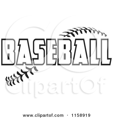 baseball clipart free black and white