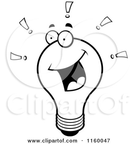 Royalty Free Light Bulb Character Illustrations by Cory