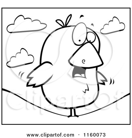 Royalty-Free (RF) Bird On A Wire Clipart, Illustrations