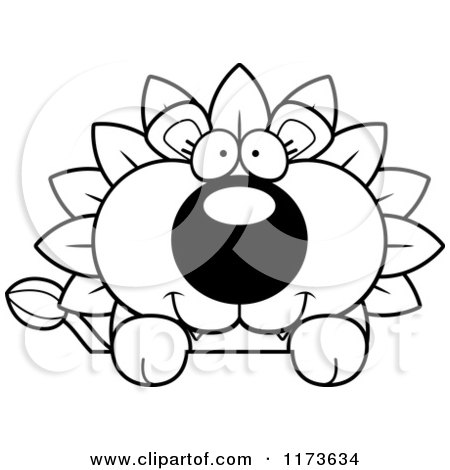 Cartoon Clipart Of A Happy Dandelion Flower Lion Mascot