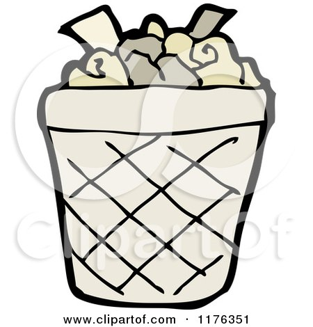 Clipart of a Bag of Garbage  Royalty Free Vector