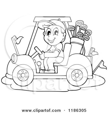 Royalty-Free (RF) Golf Cart Clipart, Illustrations, Vector