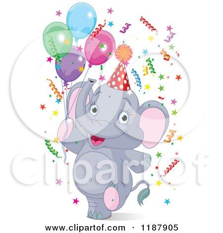 clipart cute blue baby elephant