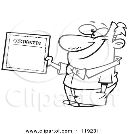 Royalty-Free (RF) Certificate Of Achievement Clipart