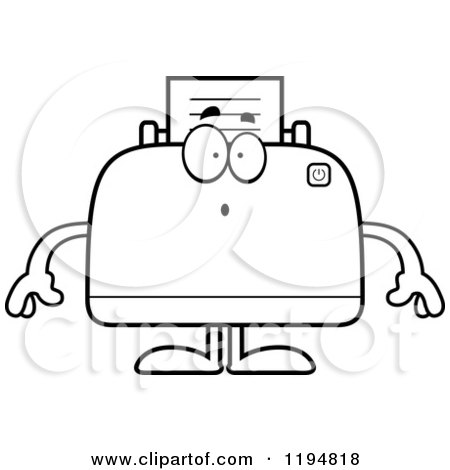 Royalty-Free (RF) Coloring Printer Page Clipart