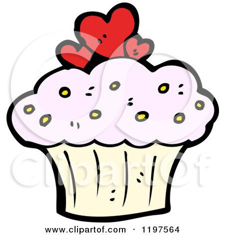 cartoon of cookies and cupcakes