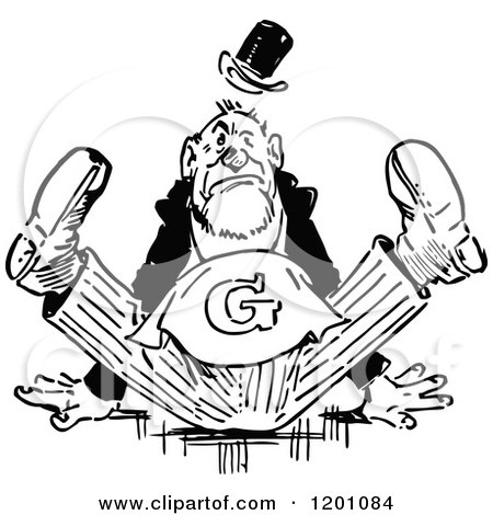 Cartoon Black And White Outline Design Of A Black Man