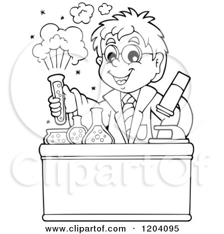 Royalty-Free (RF) Clipart of Chemists, Illustrations