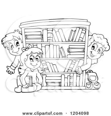 Royalty-Free (RF) Book Shelf Clipart, Illustrations