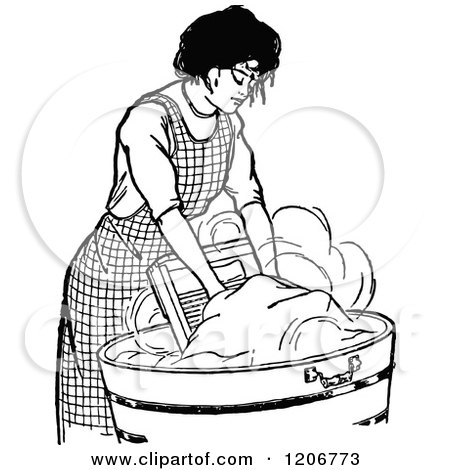 Clipart Of A Retro Vintage Black And White Woman Hand