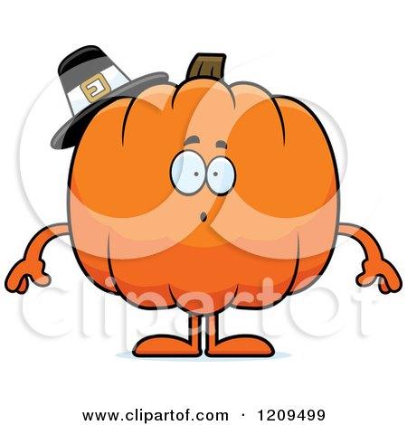 cartoon of sick pumpkin mascot
