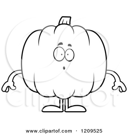 cartoon of black and white surprised