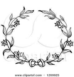 wreath flower clipart bow vector illustration floral royalty prawny clip flowers wedding illustrations clipartof graphics cartoon collc0089