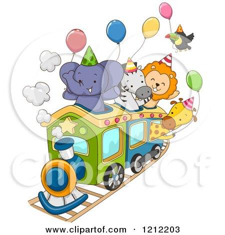 cartoon of party train