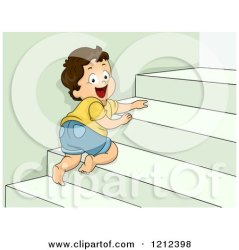 stairs boy crawling cartoon clipart toddler staircase happy illustration 3d royalty leading vector bnp studio carpet cgi