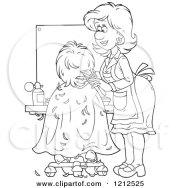 royalty-free rf hair salon clipart