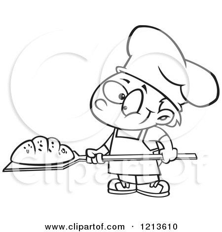 Cartoon Bread Baker Stock Photos Royalty