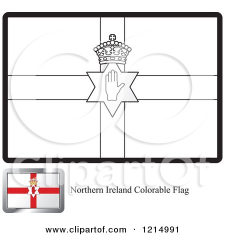 Clipart of a Coloring Page and Sample for a Northern