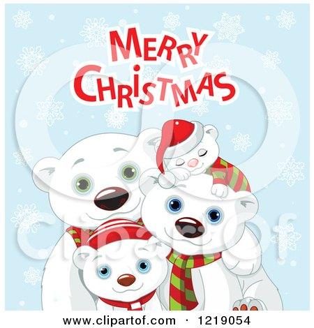 clipart of cute polar bear family