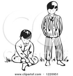 boy brother clipart standing pouting walking boys park running illustration children