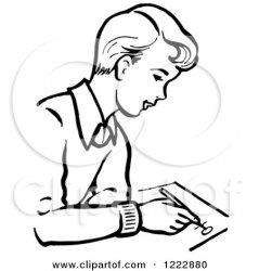 writing clipart boy retro illustration student picsburg royalty vector illustrations copyright posters prints educational clipartof protected