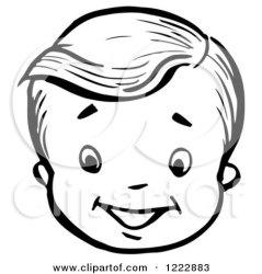 face boy happy clipart retro vector royalty illustration picsburg rf illustrations