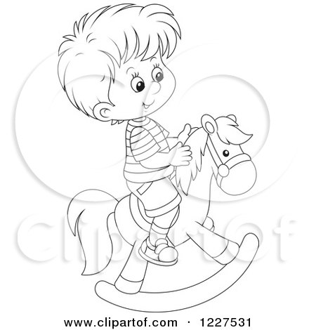 Royalty-Free (RF) Clipart of Rocking Horses, Illustrations