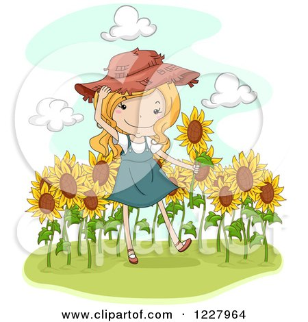 royalty-free rf clipart of sunflowers