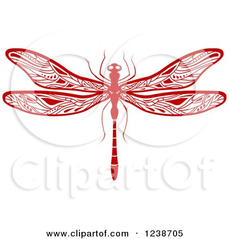 clipart of green dragonfly