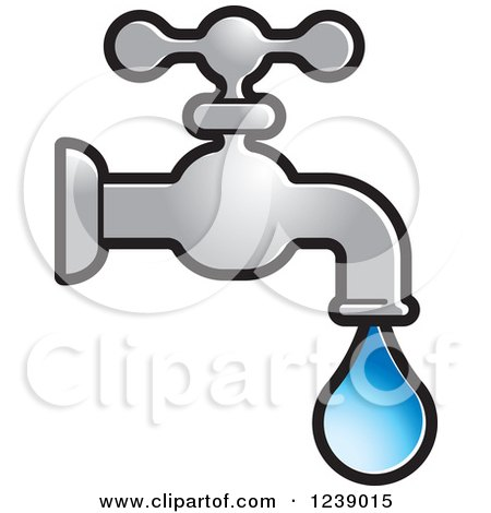 RoyaltyFree RF Leaky Faucet Clipart Illustrations Vector Graphics 1