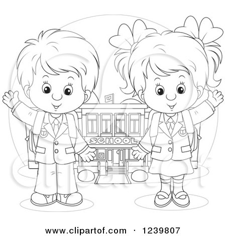 Royalty-Free (RF) First Day Of School Clipart
