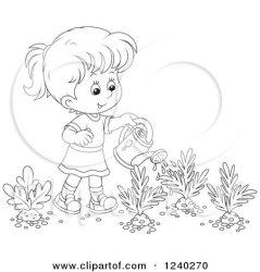 garden watering carrot clipart happy vegetable vector turnip royalty illustration clip bannykh alex illustrations outline rf vegetables clipartof
