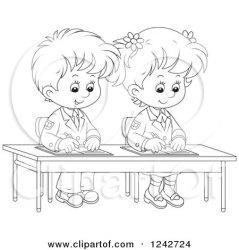 writing clipart children desk illustration royalty boy reading alex vector classroom bannykh essay illustrations blond rf graphics clipartof