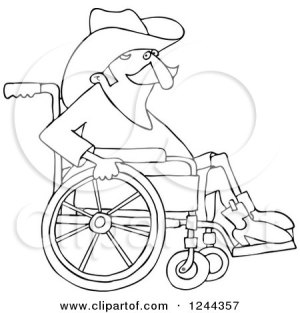 wheelchair cowboy clipart senior royalty illustration djart vector sick illustrations clipartof