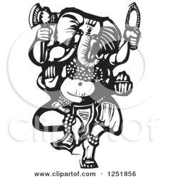 god ganesha hindu clipart illustration woodcut axe vector royalty xunantunich ganesh symbol prosperous fish chinese double