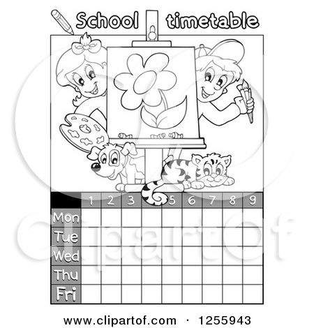 Royalty-Free (RF) Clipart Illustration of a Canvas