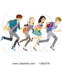 clipart students running student royalty illustration bnp studio clip vector working run clipartof