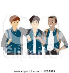 students varsity clipart illustration three jackets royalty bnp studio buddies vector law clipartof