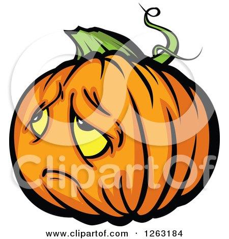 clipart of sad halloween pumpkin