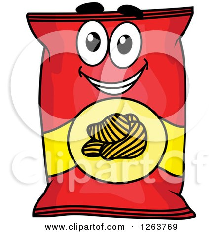 RoyaltyFree RF Clipart of Potato Chips Illustrations