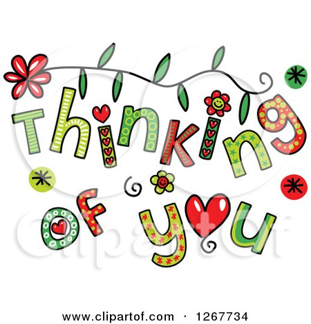 clipart of colorful sketched thinking