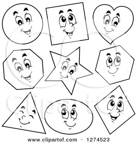 Royalty-Free (RF) Shape Character Clipart, Illustrations