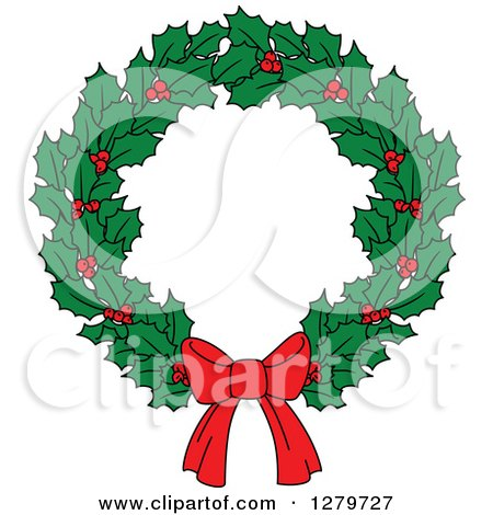 clipart of holly and berry christmas
