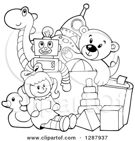 Royalty-Free (RF) Toy Chest Clipart, Illustrations, Vector